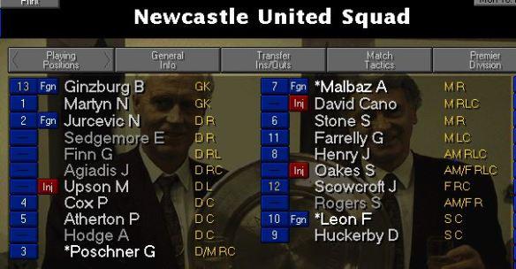 newcastle-squad