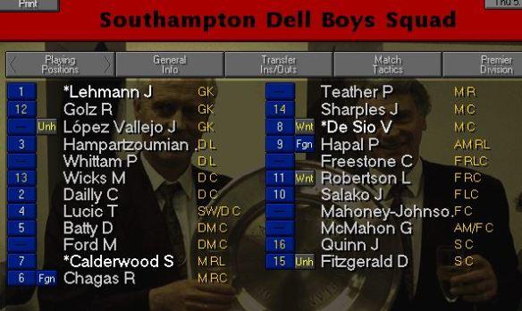 southampton-squad