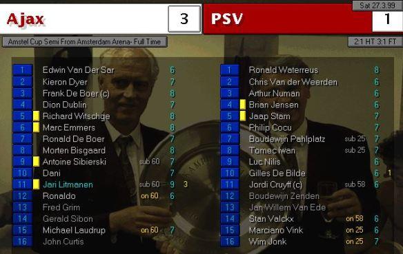 Ajax PSV cup semi