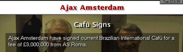 Ajax sign Cafu