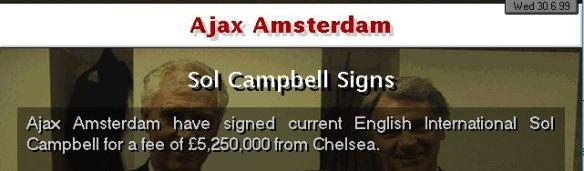Ajax sign Campbell
