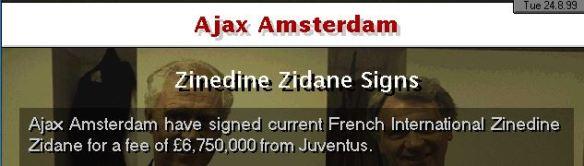 Ajax sign Zidane