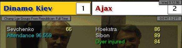CL Kiev 1 - 2 Ajax