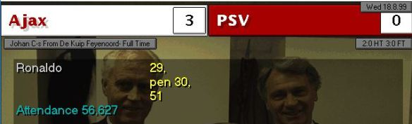 CS Ajax 3 - 0 PSV