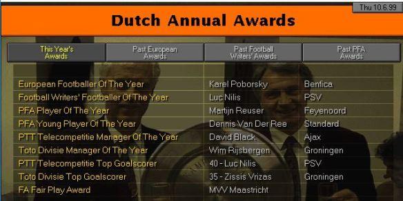 dutch awards 99