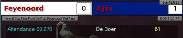 Dutch Cup final 99