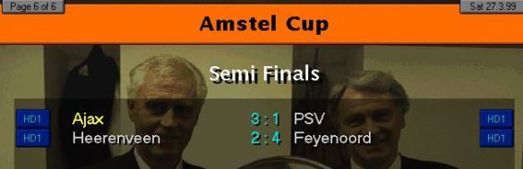 DUtch cup SF results