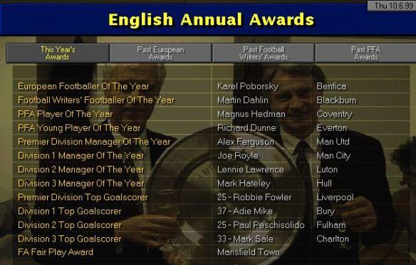 English awards 99