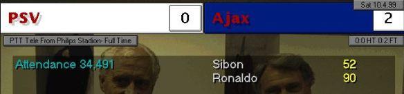 PSV 0 - 2 Ajax