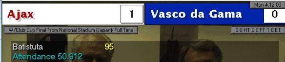 Ajax 1 - 0 Vasco