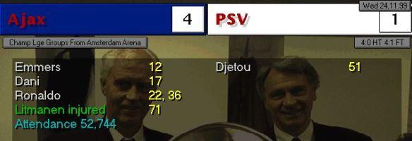 AJax 4 - 1 PSV CL