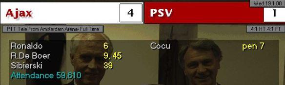 AJax 4 - 1 PSV league
