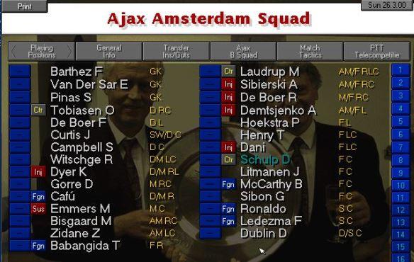 Ajax squad march 00