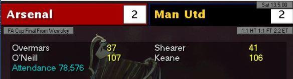 arsenal 2 - 2 man utd FA cup final