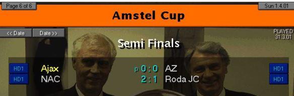 Dutch Cup SF Resulys 2001