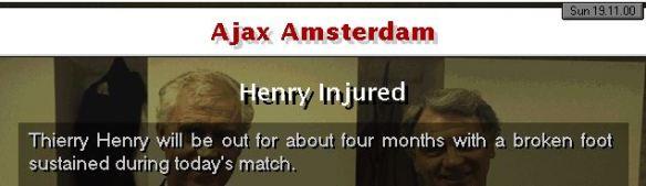 henry broken foot