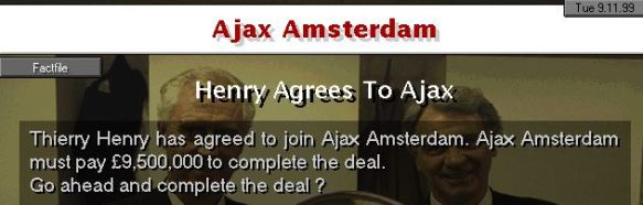 Henry to Ajax