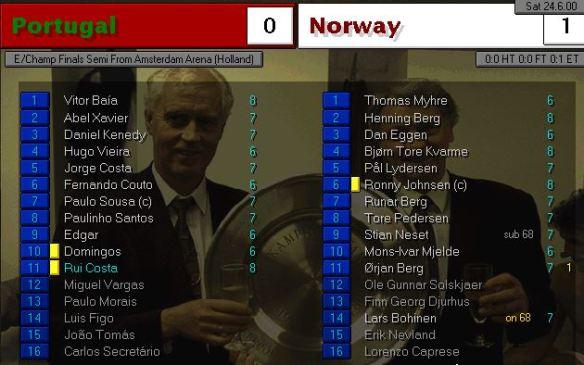 portgual 0 - 1 norway
