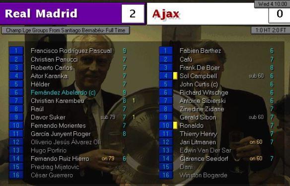 Real Madrid 2 - 0 AJax