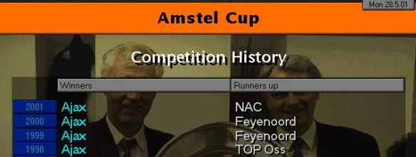 dutch cup history