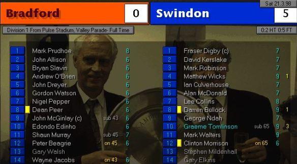 bradford 0 - 5 swindon