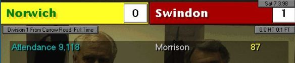 Morrison winner vs Norwich