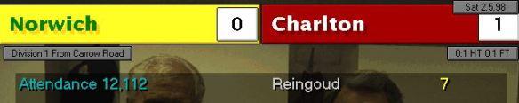 Norwich 0 - 1 charlton