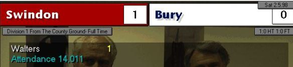 swindon 1 - 0 bury