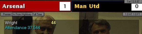 arsenal 1 - 0 man utd