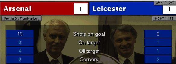 Arsenal 1 - 1 Leicester