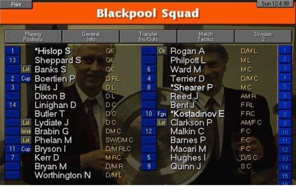 Blackpool squad