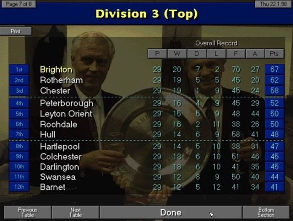 div 3 table