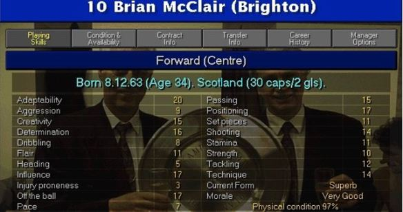 mcclair stats