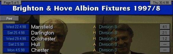 promotion fixtures