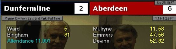5-2 at Dunfermline