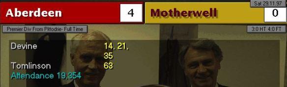 Aberdeen 4 - 0 Motherwell
