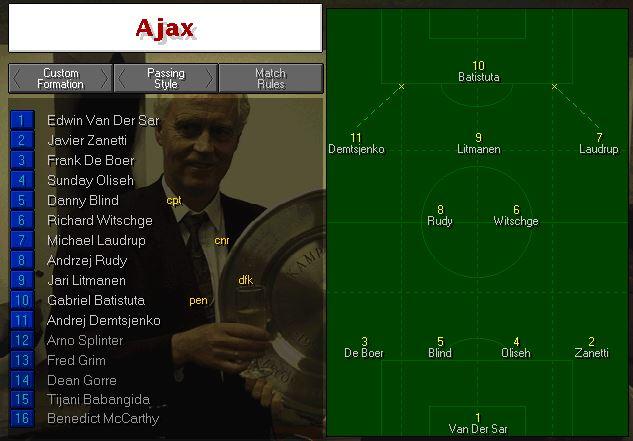 Ajax half time tactics