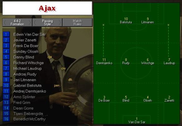 Ajax Lineup
