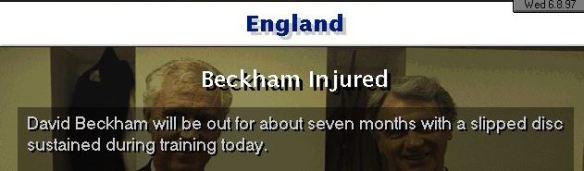 Beckham injured