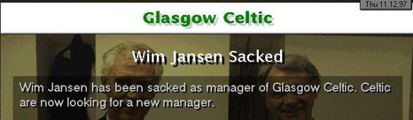 Celtic sack Jansen