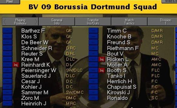 Dortmund squad