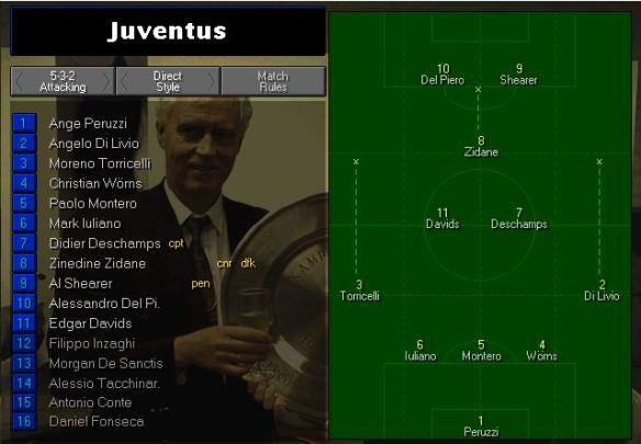 Juve Lineup