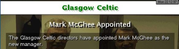 McGhee in at Celtic