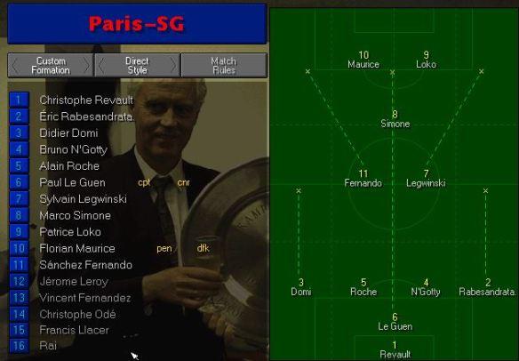 PSG line up