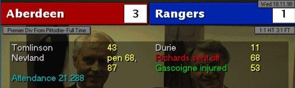 3-1 Rangers