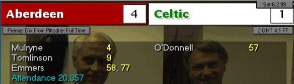 Aberdeen 4 - 1 celtic again