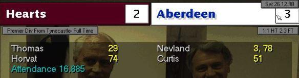 Hearts 2 - 3 Aberdeen