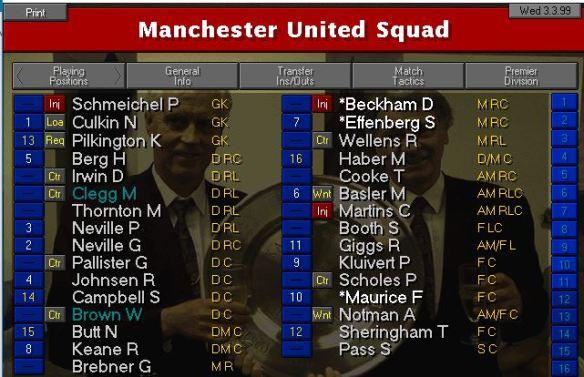 MUFC squad