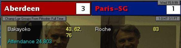 aberdeen 3 - 1 PSG