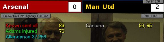 Arsenal 0 - 2 Man Utd
